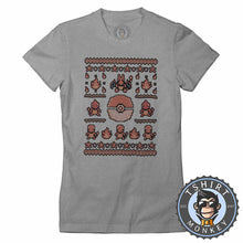 Load image into Gallery viewer, Charmander Inspired Ugly Sweater Tshirt Lady Fit Ladies 2901