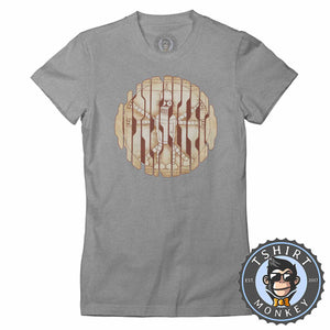 Vitruvian Calculon Man Futurama Inspired Funny Meme Cartoon Tshirt Lady Fit Ladies 1131