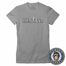 Load image into Gallery viewer, Believe - Bigfoot Inspired Sasquatch Cool Vintage Tshirt Lady Fit Ladies 1221