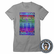 Load image into Gallery viewer, Woodstock At 50 Retro Vintage Music Inspired Tshirt Lady Fit Ladies 1265