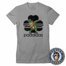 Load image into Gallery viewer, Paddidas Dabbing Leprechaun Irish Tshirt Lady Fit Ladies 0164