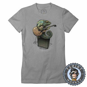 Chameleon Plays the Guitar Tshirt Lady Fit Ladies 0069