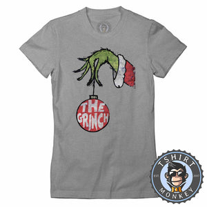 The Grinch Inspired Grunge Christmas Tshirt Lady Fit Ladies 1670