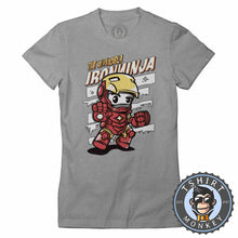 Load image into Gallery viewer, The Invincible Iron Ninja Cute Meme Cartoon Tshirt Shirt Lady Fit Ladies 2370