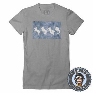 Crazy Funny Distorted Unicorn Funny Graphic Illustration Tshirt Lady Fit Ladies 1304