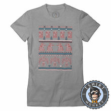 Load image into Gallery viewer, Conquer Ugly Sweater Christmas Tshirt Lady Fit Ladies 2898