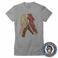 Load image into Gallery viewer, Queen Songs Music Inspired Freddie Mercury Abstract Statement Tshirt Lady Fit Ladies 1154