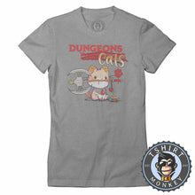 Load image into Gallery viewer, Dungeon Cats - Funny Dungeons and Dragon Meme Tshirt Lady Fit Ladies 1133