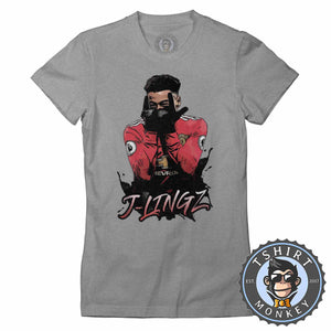 J-lingz - Jesse Lingard Inspired Tshirt Lady Fit Ladies 0156