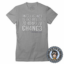 Load image into Gallery viewer, Intelligence By Stephen Hawking Tshirt Lady Fit Ladies 3011