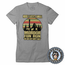 Load image into Gallery viewer, Annual Mordor Fun Run Movie Inspired Funny Vintage Tshirt Lady Fit Ladies 1100
