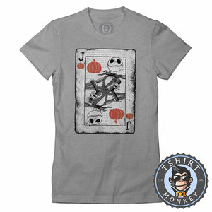 Jack Of Pumpkin Movie Inspired Graphic Illustration Tshirt Lady Fit Ladies 1187