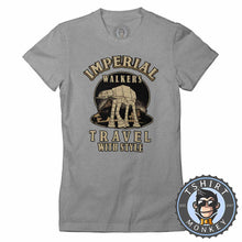 Load image into Gallery viewer, Imperial Walkers Travel With Style Movie Inspired Vintage Tshirt Lady Fit Ladies 1235
