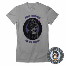 Load image into Gallery viewer, Hello Darkness My Old Friend Cute Darth Vader Cartoon Tshirt Lady Fit Ladies 1269