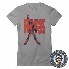 "Load image into Gallery viewer, Deadpool Inspired ""We Will Rock You"" Tshirt Lady Fit Ladies 0053"