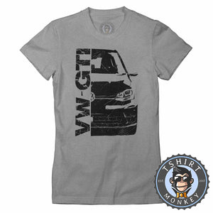 VW Golf GTI Vintage Tshirt Lady Fit Ladies 0294