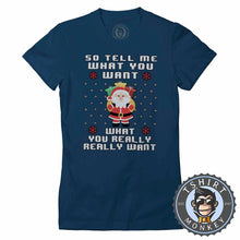 Load image into Gallery viewer, Tell Me Santa Tshirt Lady Fit Ladies 1680