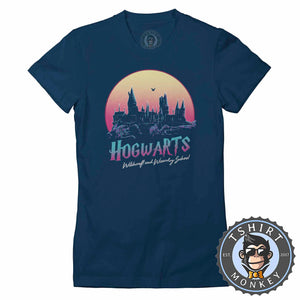 Hogwarts Inspired Vintage Summer Tshirt Lady Fit Ladies 0343