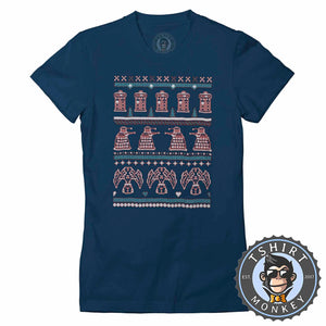Conquer Ugly Sweater Christmas Tshirt Lady Fit Ladies 2898