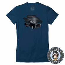 Load image into Gallery viewer, American Classic Hot Rod Pickup Truck Tshirt Lady Fit Ladies 0014