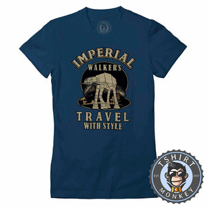 Imperial Walkers Travel With Style Movie Inspired Vintage Tshirt Lady Fit Ladies 1235