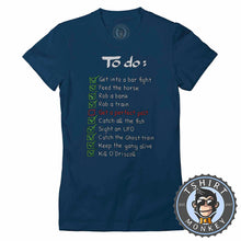 Load image into Gallery viewer, Red Dead Redemption Game Inspired Funny To Do List Gamer Tshirt Lady Fit Ladies 1317