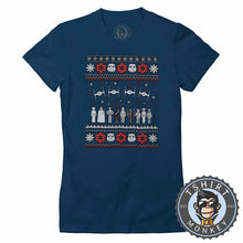 Load image into Gallery viewer, Jedi Force Ugly Sweater Christmas Tshirt Lady Fit Ladies 1669