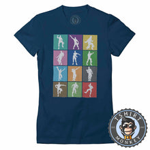 Load image into Gallery viewer, Dance and Emotes Pop Art Tshirt Lady Fit Ladies 0300