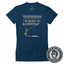Load image into Gallery viewer, Merry Christmas? Ugly Sweater Tshirt Lady Fit Ladies 2890