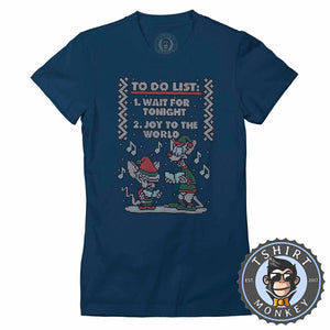Christmas List Ugly Sweater Tshirt Lady Fit Ladies 2867