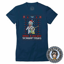 Load image into Gallery viewer, Merry Scwhwiftmas Ugly Sweater Christmas Tshirt Lady Fit Ladies 1660