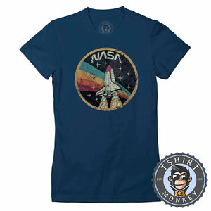 Vintage Nasa Inspired Tshirt Lady Fit Ladies 0126