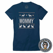 Load image into Gallery viewer, Mommy Ugly Sweater Christmas Tshirt Lady Fit Ladies 1653