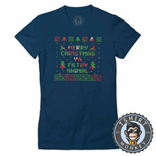 Load image into Gallery viewer, Ya Filthy Animal Ugly Sweater Christmas Tshirt Lady Fit Ladies 2872