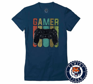 Retro Style Gamer Inspired Vintage Tshirt Lady Fit Ladies 1075