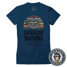 Load image into Gallery viewer, Daddy Shark Vintage 02 Tshirt Lady Fit Ladies 0285