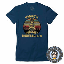 Load image into Gallery viewer, Namaste Mother Fcker Funny Vintage Tshirt Lady Fit Ladies 1105