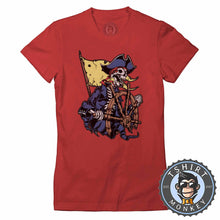 Load image into Gallery viewer, Pirate Inspired Captain Skull Unique Halloween Graphic Tshirt Lady Fit Ladies 1151