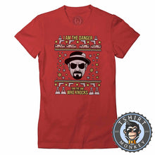 Load image into Gallery viewer, I Am The Danger Ugly Sweater Chistmas Tshirt Lady Fit Ladies 1624