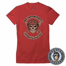 Load image into Gallery viewer, Old Coot on Scoots Biker Tshirt Lady Fit Ladies 0058
