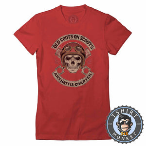 Old Coot on Scoots Biker Tshirt Lady Fit Ladies 0058