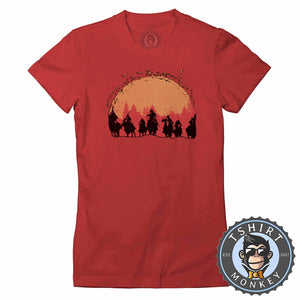 Red Dead Redemption Game Inspired Vintage Cowboy Tshirt Lady Fit Ladies 1200
