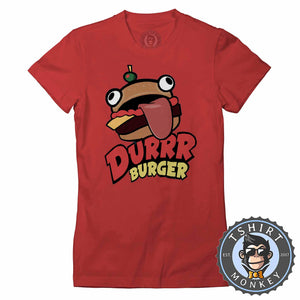 Durrr Burger Tshirt Lady Fit Ladies 0298