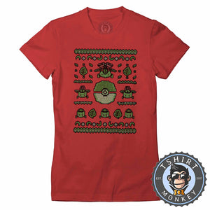 Bulbasaur Ugly Sweater Tshirt Lady Fit Ladies 2904