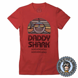 Daddy Shark Vintage 02 Tshirt Lady Fit Ladies 0285