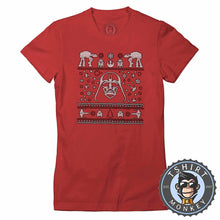 Load image into Gallery viewer, Darthtmas Ugly Sweater Christmas Tshirt Lady Fit Ladies 1667