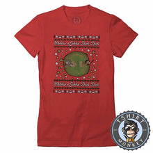 Load image into Gallery viewer, Wubba Lubba Dub Dub Ugly Sweater Christmas Tshirt Lady Fit Ladies 1678
