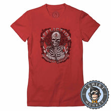 Load image into Gallery viewer, Affliction American Customs Skull Tshirt Lady Fit Ladies 0012
