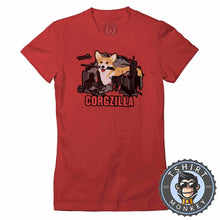 Load image into Gallery viewer, CORGZILLA - Dog Inspired Corgi Funny Animal Print Meme Tshirt Lady Fit Ladies 1094