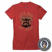 Load image into Gallery viewer, Live Fast Eat Trash Vintage Tshirt Lady Fit Ladies 0207